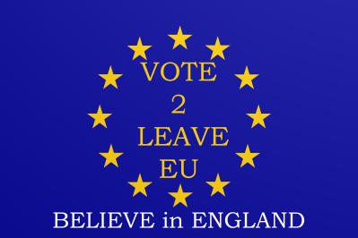EU Flag Believe in England